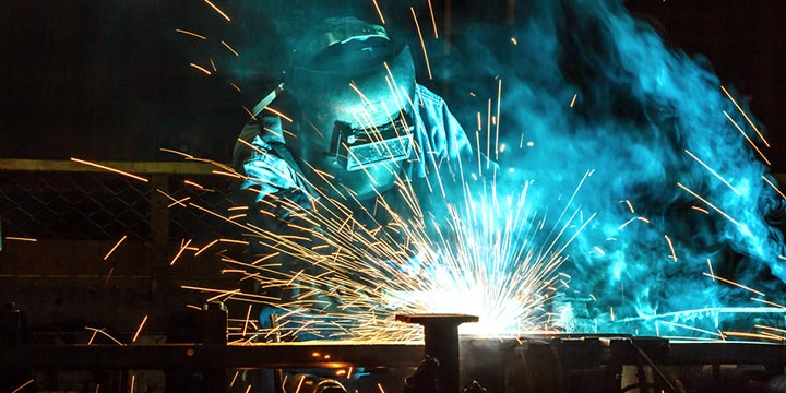 Welding image illustrating car industry
