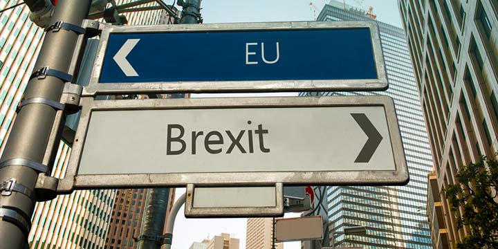 Brexit street sign